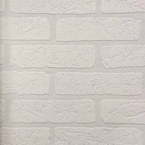 Vliesové tapety na stenu Wallton pretieratelná tehla biela 150100, rozmer 10,05 m x 0,53 m, RASCH