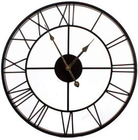 Nástenné hodiny Old Style, 45 cm - čierna / hnedá