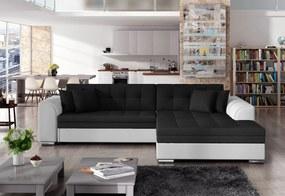 Expedo Rohová rozkladacia sedačka PALERMO, 294x80x196 cm, jasmine 100/soft 017 white, pravá
