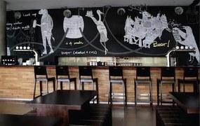 Samolepiace tabuľová fólie čierna, metráž, šírka 1,23m, návin 50 m, IMPOL TRADE 3123456, samolepiace tapety