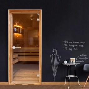 Fototapeta na dvere Bimago - Sauna + lepidlo zadarmo 70x210 cm