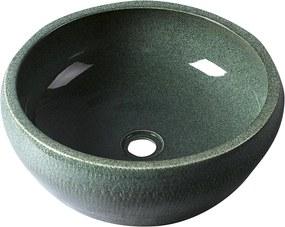 SAPHO - PRIORI keramické umývadlo, priemer 42cm, zelená (PI013)