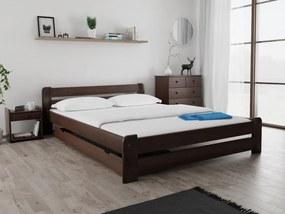 Posteľ Laura 120 x 200 cm, orech Rošt: S latkovým roštom, Matrac: S matracom Economy 10 cm