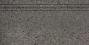 Schodovka Rako Piazzetta čierna 30x60 cm mat DCPSE789.1