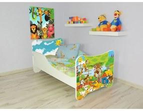 Detská posteľ s obrázkom 140x70 - Farma