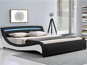 Čalúnená posteľ Malaga 180 x 200 cm - čierna