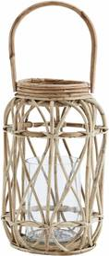 MADAM STOLTZ Bambusová lucerna Bamboo 35 cm