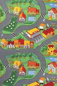 Metrážový koberec Little Village 90 - Rozměr na míru s obšitím cm