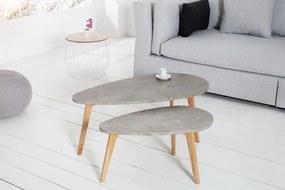 Odkládací stolík Scandinavia Cement 2er Set