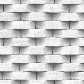 Vliesové tapety na stenu Horizons L57109, rozmer 10,05 m x 0,53 m, 3D tehla biela, Ugépa