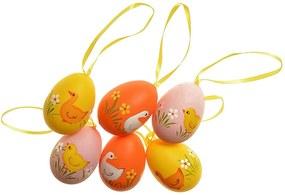 Sada závesných veľkonočných vajíčok 5 cm, 6 ks
