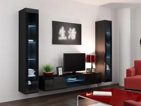 CAMA MEBLE Obývacia stena VIGO 20 Farba: čierna
