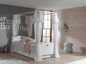 Detská posteľ s nebesami Amori AMKB9014 - Detská posteľ: 212x187x96 cm