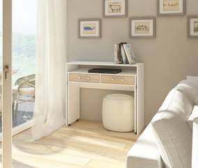 WIP PC stolík Zoom matný Farba: Dub sonoma / biela