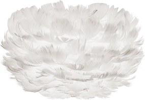 Svietidlo / luster závesný z husieho peria VITA Eos micro, biela