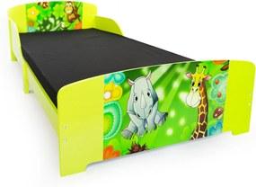 Homestyle4U Detská drevená posteľ Jungle