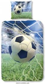 Detské bavlnené obliečky Good Morning Football Game, 140 × 200 cm