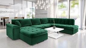 Luxusná sedacia súprava Kaniko, zelená Roh: Orientace rohu Levý roh