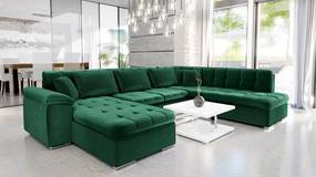 Luxusná sedacia súprava Kaniko, zelená Roh: Orientace rohu Pravý roh