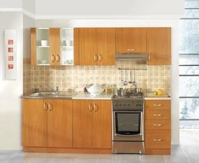 Štýlová kuchynská linka v dekore jelša 240 cm ARES - Borovice bílá - 28 mm