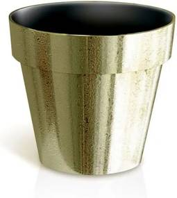 PlasticFuture Květináč Cube Gold Chrome