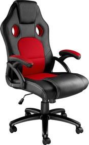 tectake 403465 kancelárska stolička tyson - černá/červená