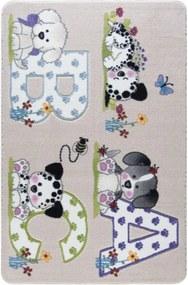 Detský béžový koberec Confetti Abc, 133 × 190 cm