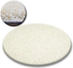 Kusový koberec Shaggy Galaxy smotanovo biely kruh, Velikosti 100cm