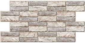 Obkladové 3D PVC panely rozmer 955 x 476 mm, hrúbka 0,5 mm, obkladový kameň svetlý