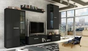LEON obývacia stena ADRK matná čierna