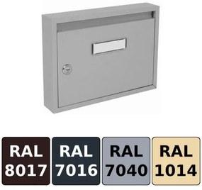 Poštová schránka DLS-E-01, vhod formát A4, interierové schránky / Barva schránky:Antracit RAL 7016