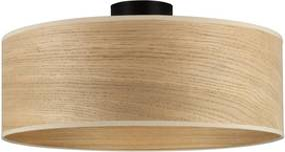 Stropné svietidlo s tienidlom z dubového dreva Sotto Luce TSURI XL