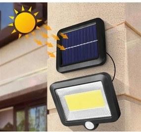 Pronett XJ3684 Solárne vonkajšie 100 LED COB osvetlenie s pohybovým senzorom