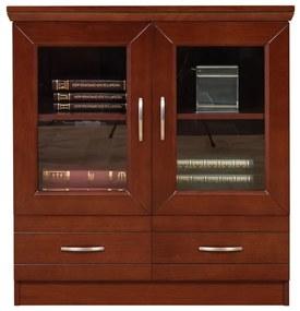 2-dverová komoda Otello IIA, presklená