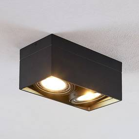 Stropné LED svietidlo Michonne čierne 2-plameňové