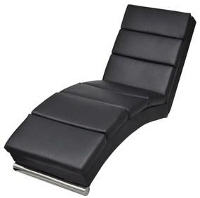 Čierne lounge lehátko