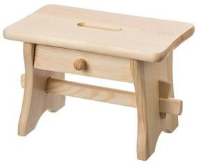 ČistéDrevo Drevená stolička so zásuvkou