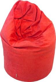 EMI Sedací vak hruška semiš červená 335 litrov