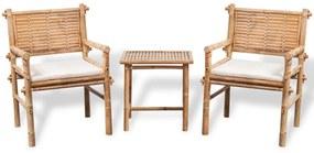 Bambusová bistro súprava s odkladacím stolíkom a sedákmi