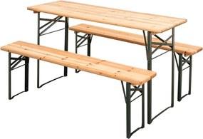 Zahradní pivní set - 2x lavica, 1x stôl