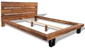 vidaXL Rám postele z masívneho agátového dreva, 140x200 cm