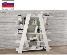 Moderní víceúčelový regál, bílá, SALVI 0000132712 Tempo Kondela
