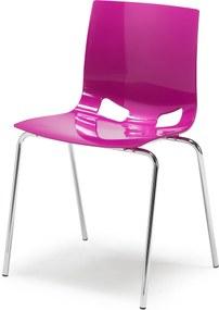 Jedálenská plastová stolička Phoenix, fialová