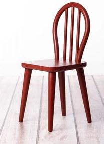Dadaboom.sk Detská drevená stolička z bukového dreva - čerešňa