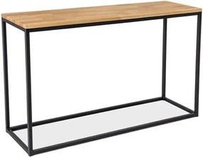 Expedo Konzolový stolík RASOL K, 120x73x36, dub/čierna