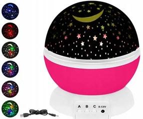ISO 8974 Projektor nočnej oblohy deluxe ružová