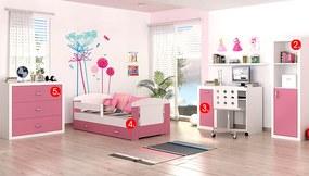 6bace0bcbd2f ArtAJ Detská izba FILIP COLOR so zásuvkou biela ružová