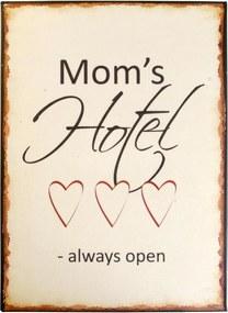 IB LAURSEN Plechová ceduľa Mom's hotel