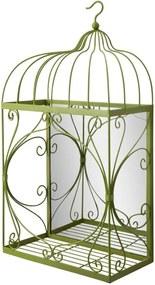 Nástenné zrkadlo so zeleným dekoratívnym rámom Mauro Ferretti Appendere