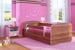 Alla jasný orech - detská posteľ 180x80